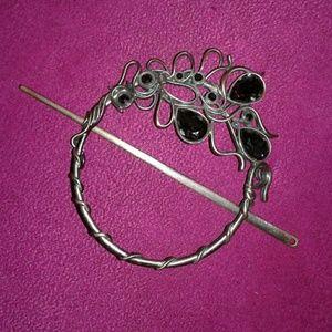 Metal Decorative hair holder/bun holder/jewelry